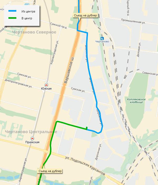 Схема проезда в Санкт-